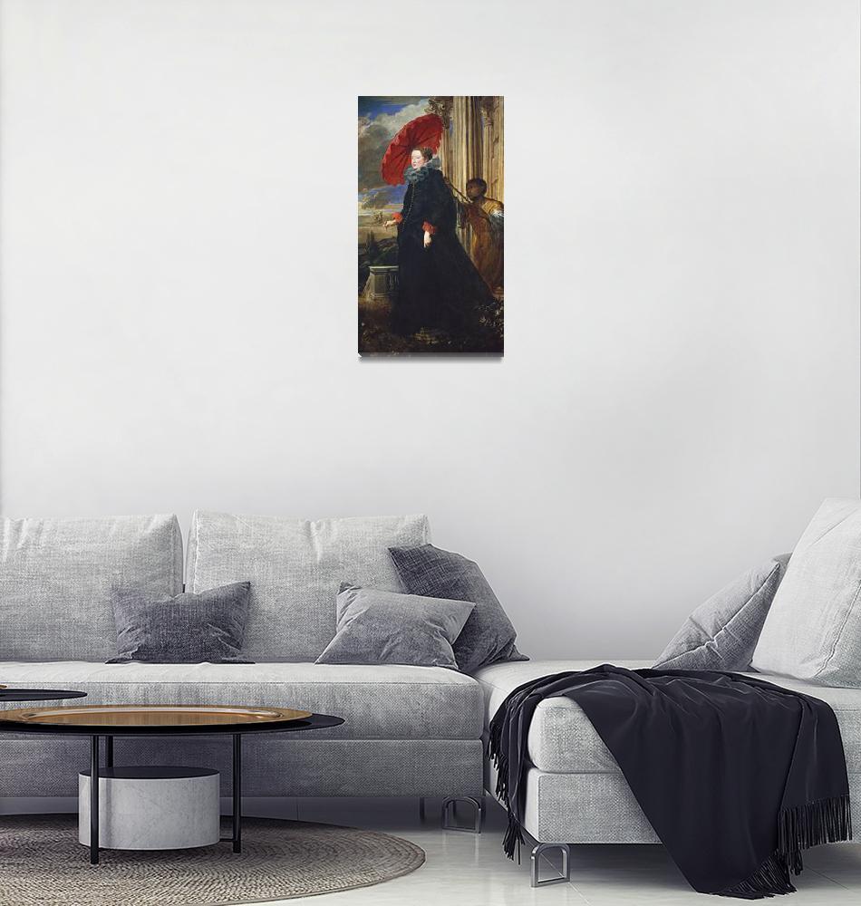 """Anthony van Dyck~Marchesa Elena Grimaldi Cattaneo""  by Old_master"