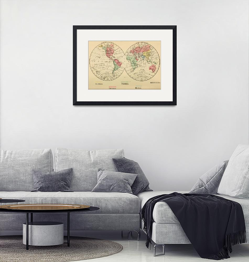 """Vintage Map of The World"
