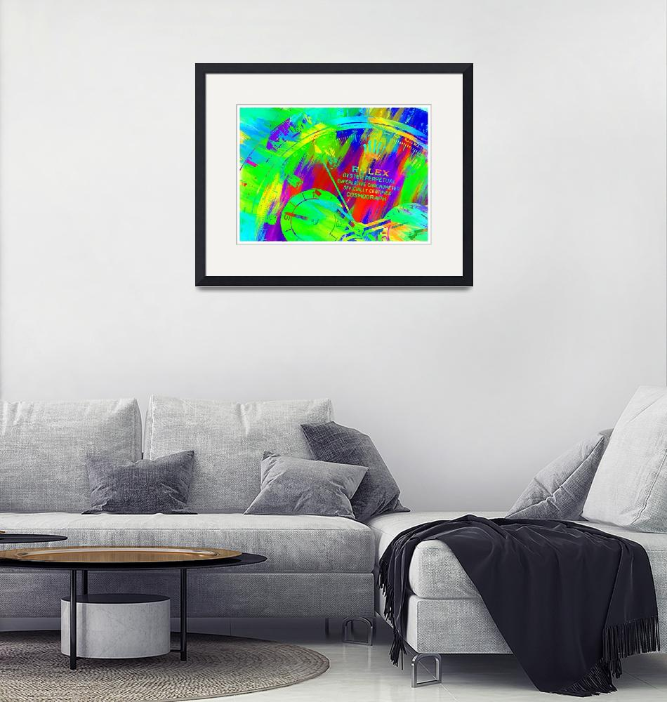 """""""Abstract Rolex Paint 15""""  by palmsrick"""