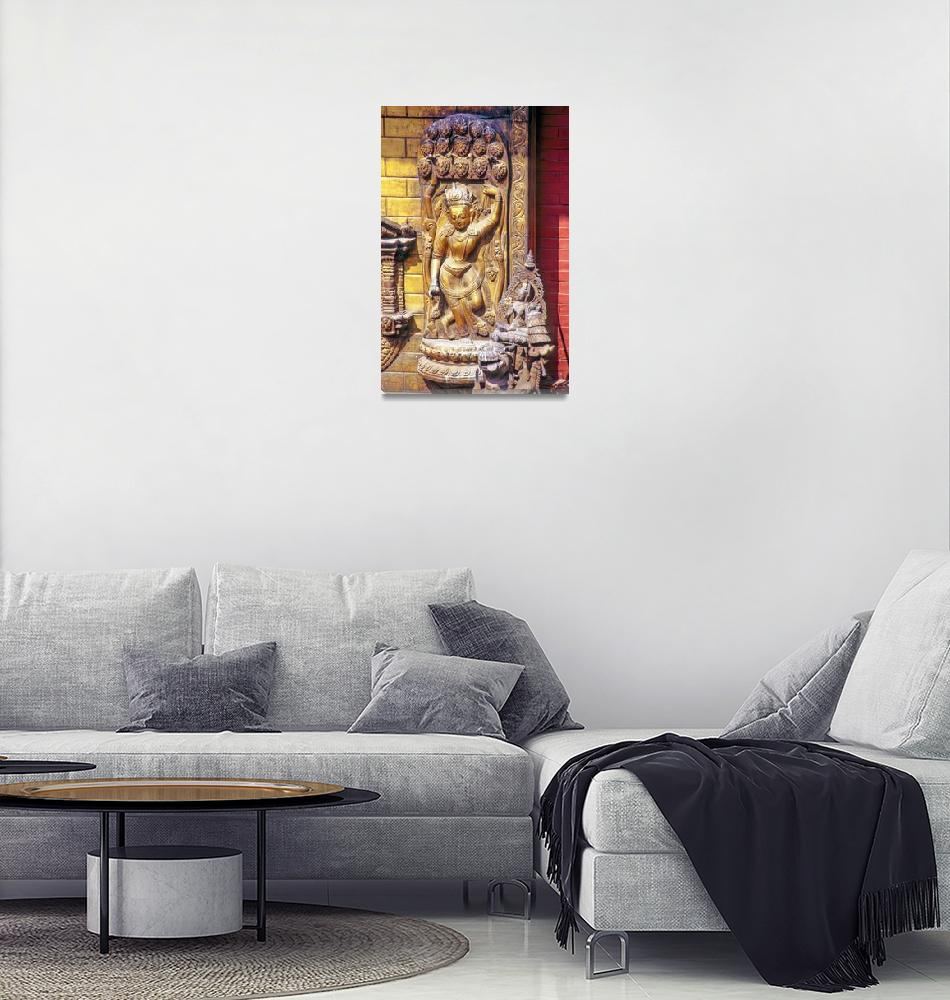 """""""God in Gold""""  (1995) by JoaoPonces"""