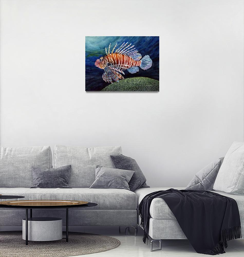 """Lionfish""  (2015) by HaileyWatermedia"