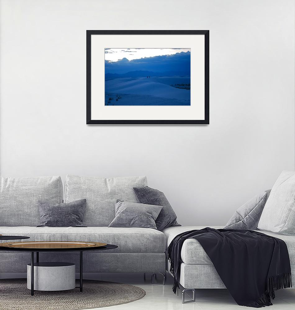 """""""Blue Night on White Sands""""  (2009) by jillsimages"""