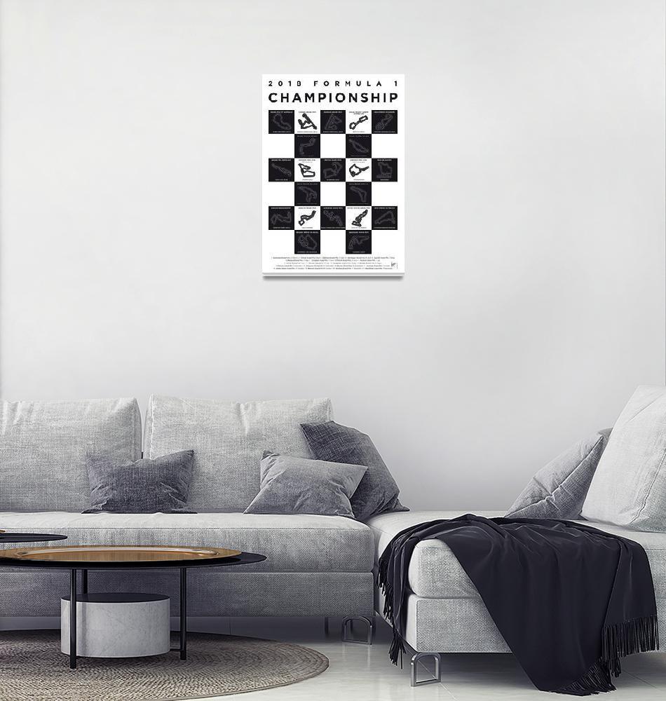 """My F1 SEASON 2018 Race Track Minimal Poster""  by Chungkong"