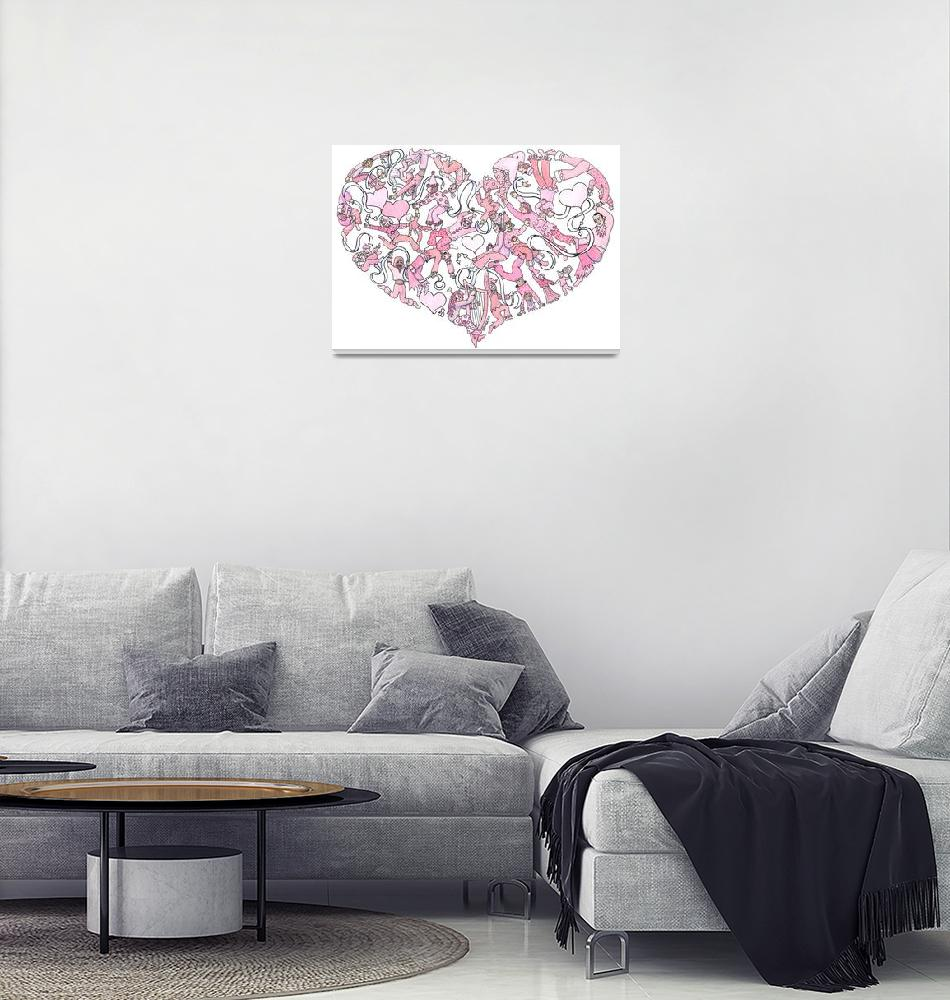 """Whimsical Pink Heart""  (2005) by createdcreating"