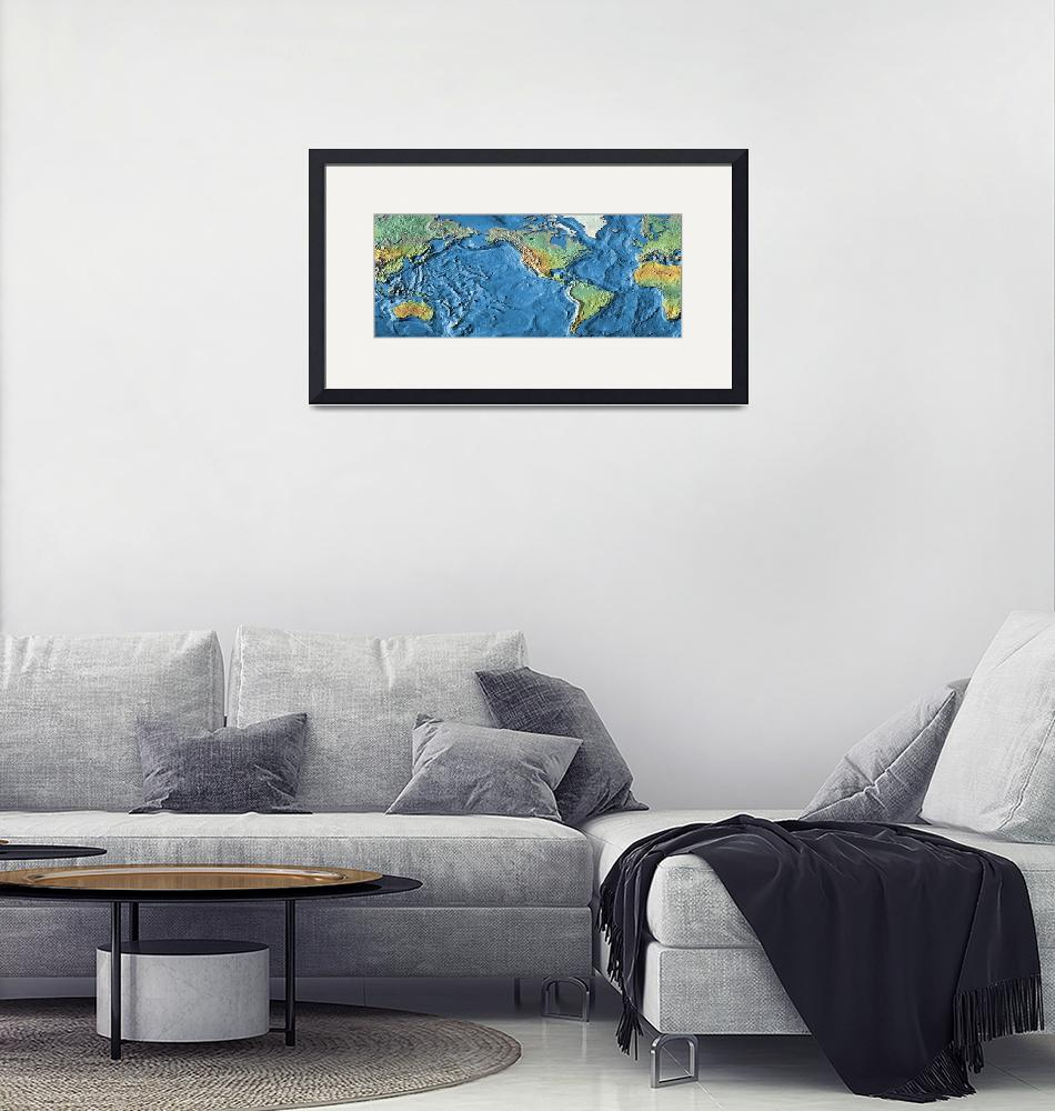 """""""Close-up of a world map"""" by Panoramic_Images"""