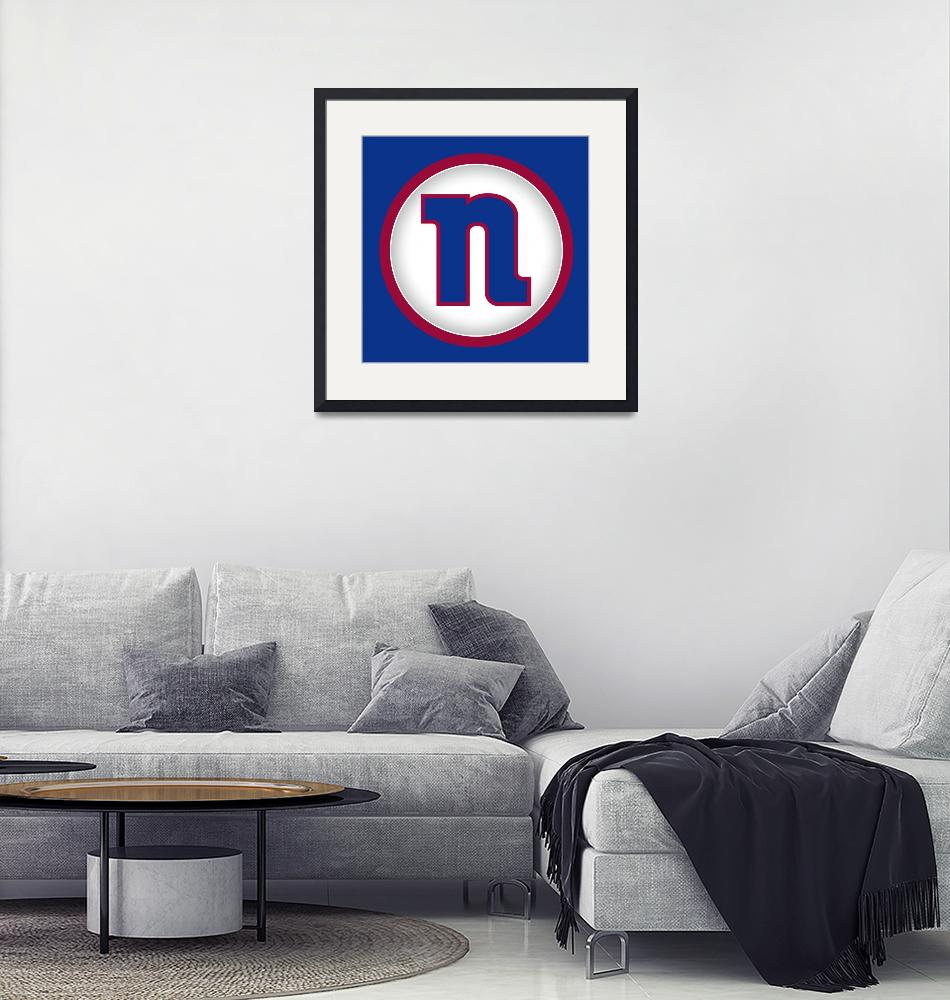"""N-NY-Giants""  by LetterPopArt"