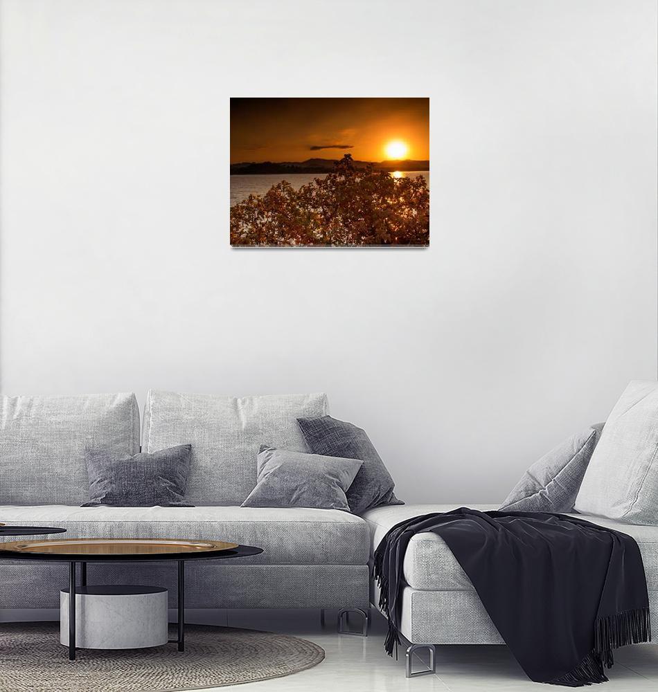 """Sunset over the lake Malawi""  (2017) by robertgrac"