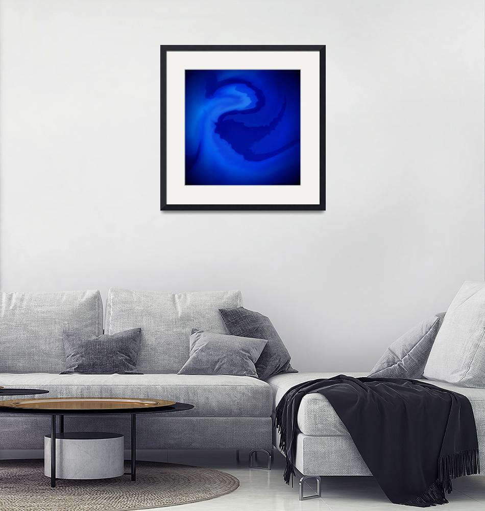 """Blue Whirlpool""  (2011) by giraffoarts"