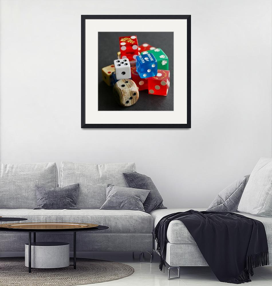 """""""A Collection of Dice""""  (2010) by MoonLiteStudio"""
