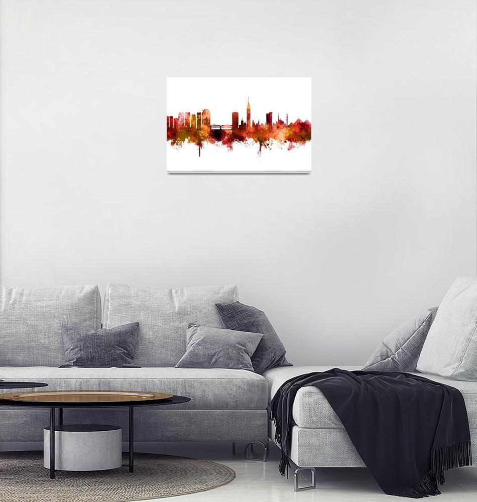 """""""Cairo Egypt Skyline""""  (2018) by ModernArtPrints"""