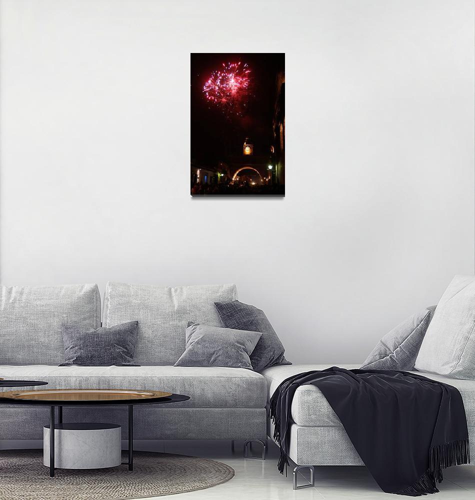 """Fireworks Over Antigua Guatemala""  (2006) by Mayan-Trip"