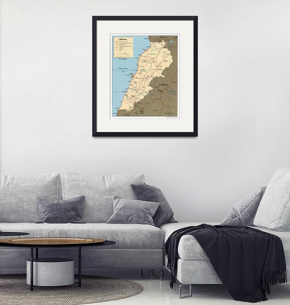 """Map of Lebanon (2000)""  by Alleycatshirts"