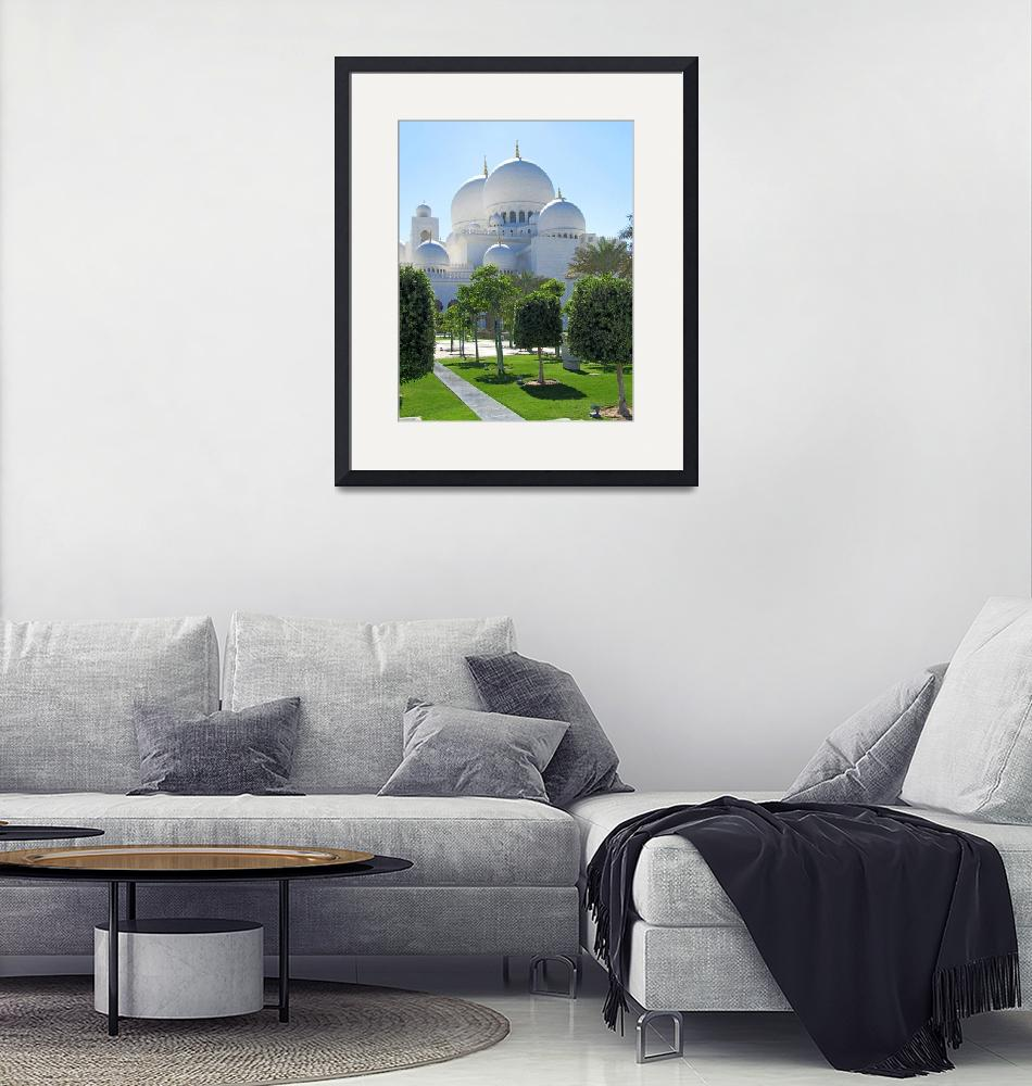 """Sheikh Zayed Grand Mosque domes 1""  (2010) by Markomarko"