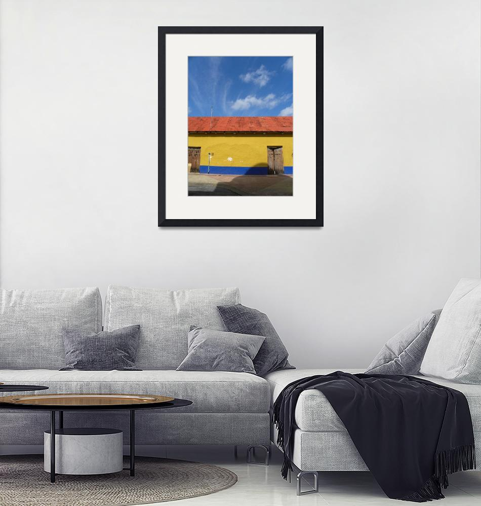 """""""Yellow Wall Blue Sky""""  (2010) by orincassill"""