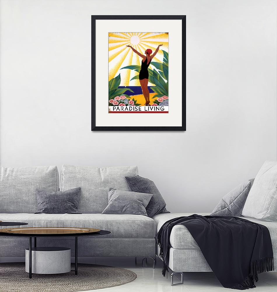 """""""Paradise Living Vintage Travel Poster""""  by FineArtClassics"""