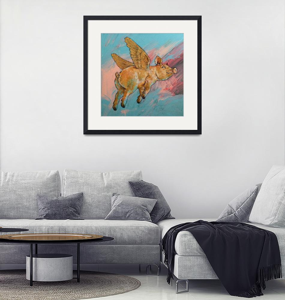 """""""Flying Pig""""  by creese"""