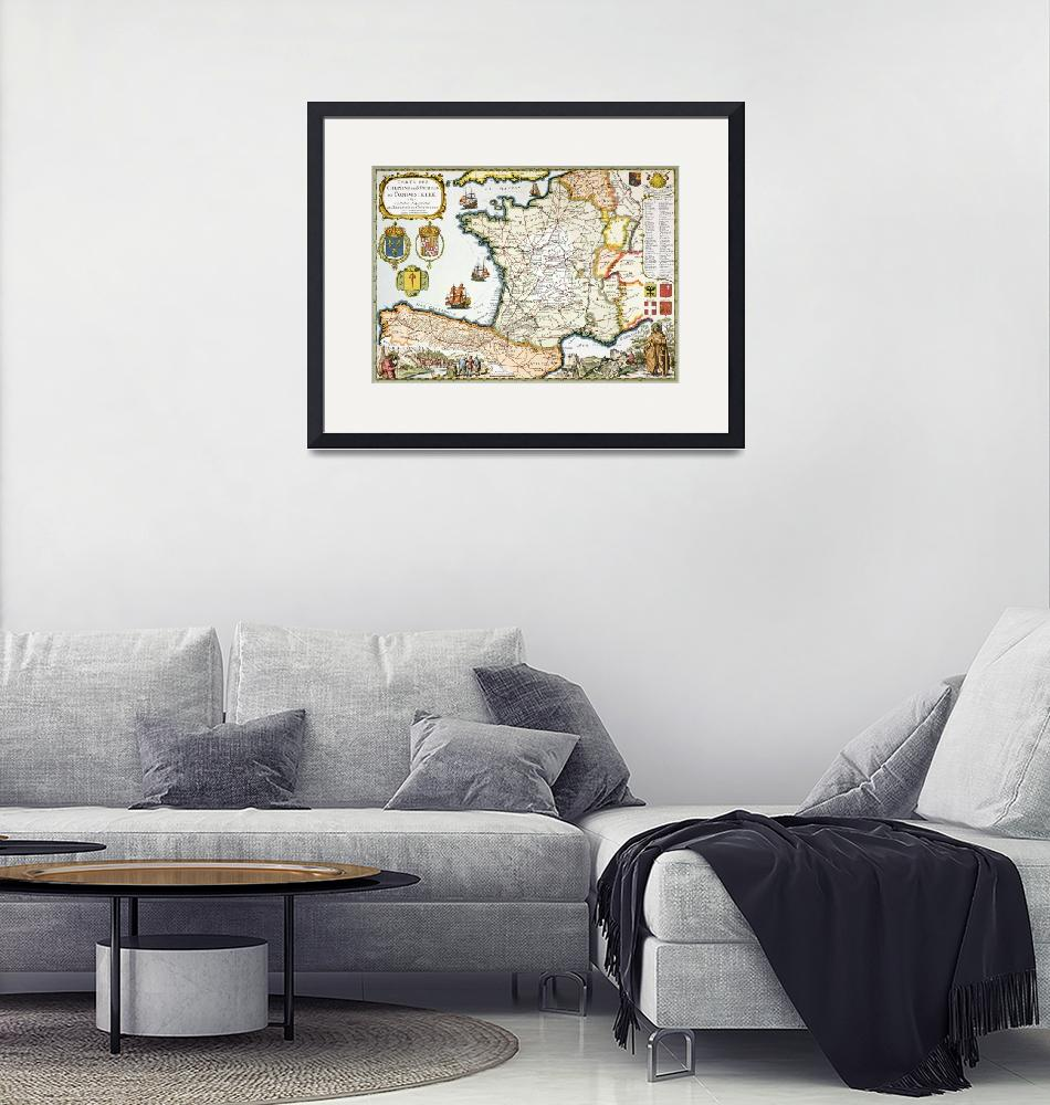 """Reproduction of Map of Routes of St. James of Comp""  by fineartmasters"