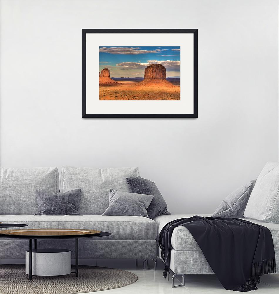 """""""Monument Valley at Sunset""""  (2009) by NjordPhotography"""
