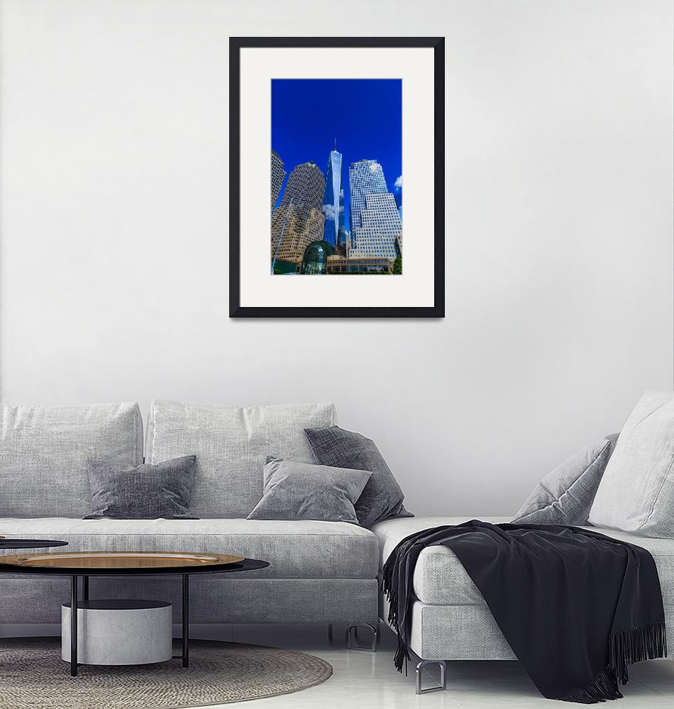 """""""One World Trade Center"""" (2014) by RickWoehrle"""