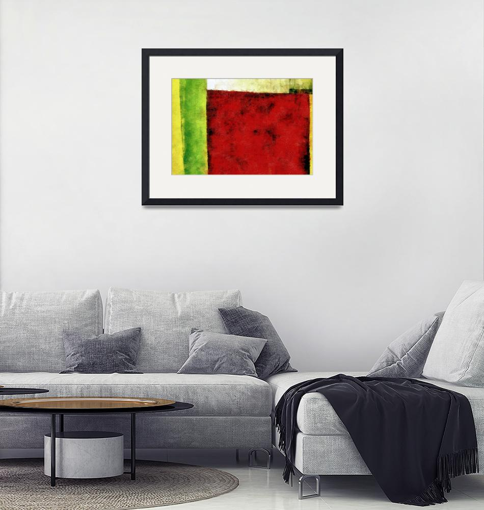 """""""Red and Green Abstract""""  (2008) by Michelle1991"""