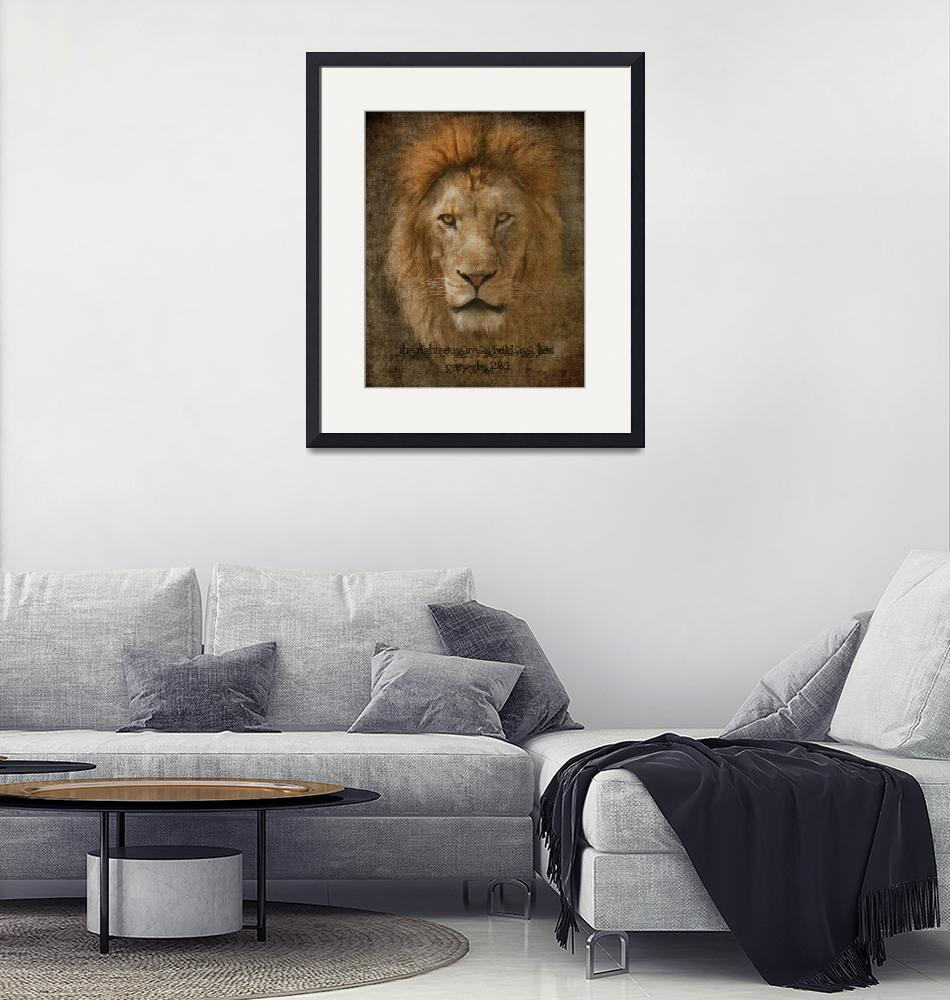 """Bold as  a Lion (Version 2)""  (2011) by LoriLindsey"