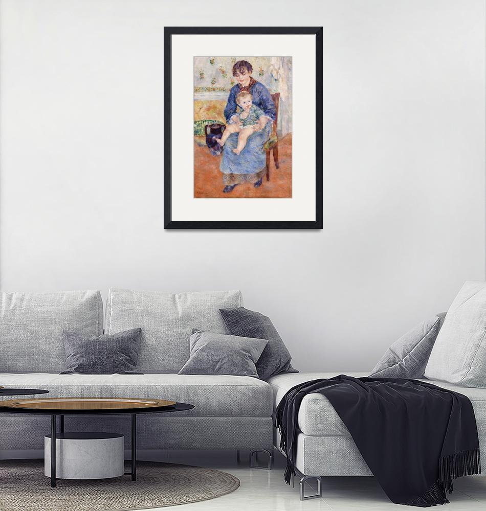 """Young Mother by Renoir""  by FineArtClassics"