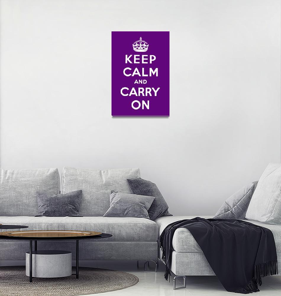 """""""Purple Keep Calm And Carry On 7""""  by oldies"""