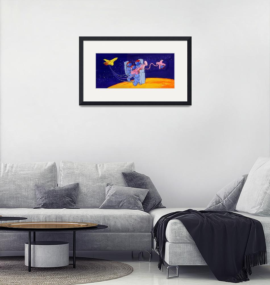 """""""Space Birth""""  (1998) by tomasart"""