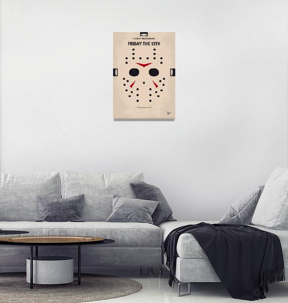 """No449 My Friday the 13th minimal movie poster""  by Chungkong"