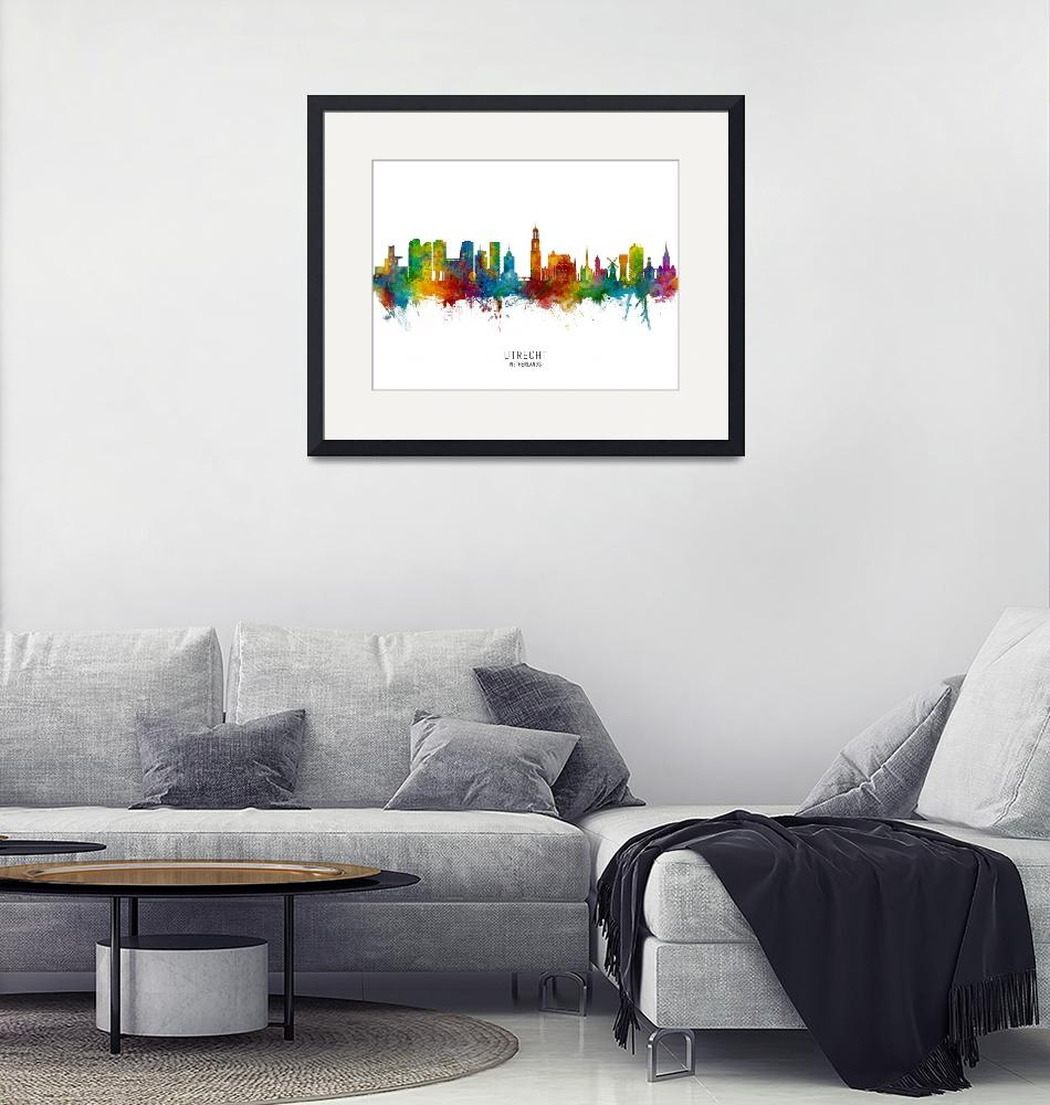 """Utrecht The Netherlands Skyline""  (2019) by ModernArtPrints"