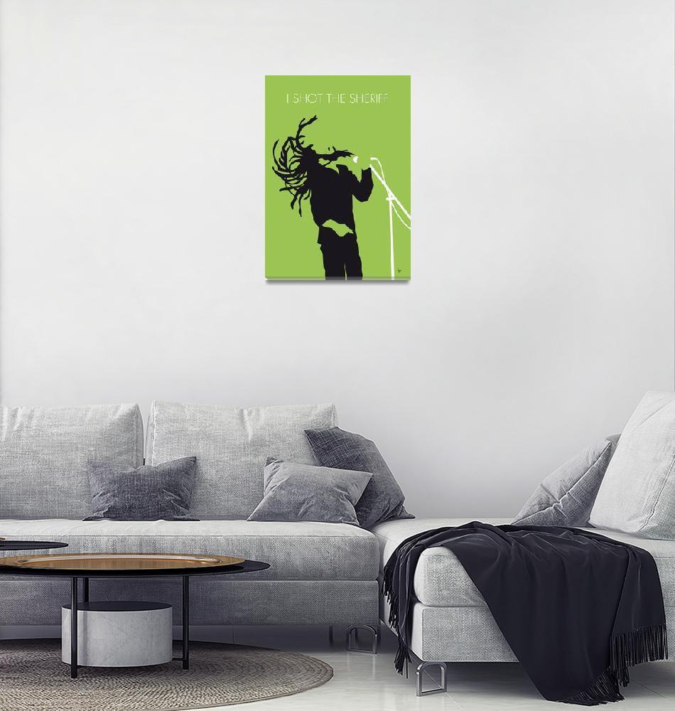 """""""No016 MY Bob Marley Minimal Music poster"""" by Chungkong"""