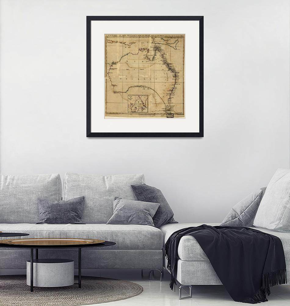 """Vintage Map of Australia (1700s)""  by Alleycatshirts"