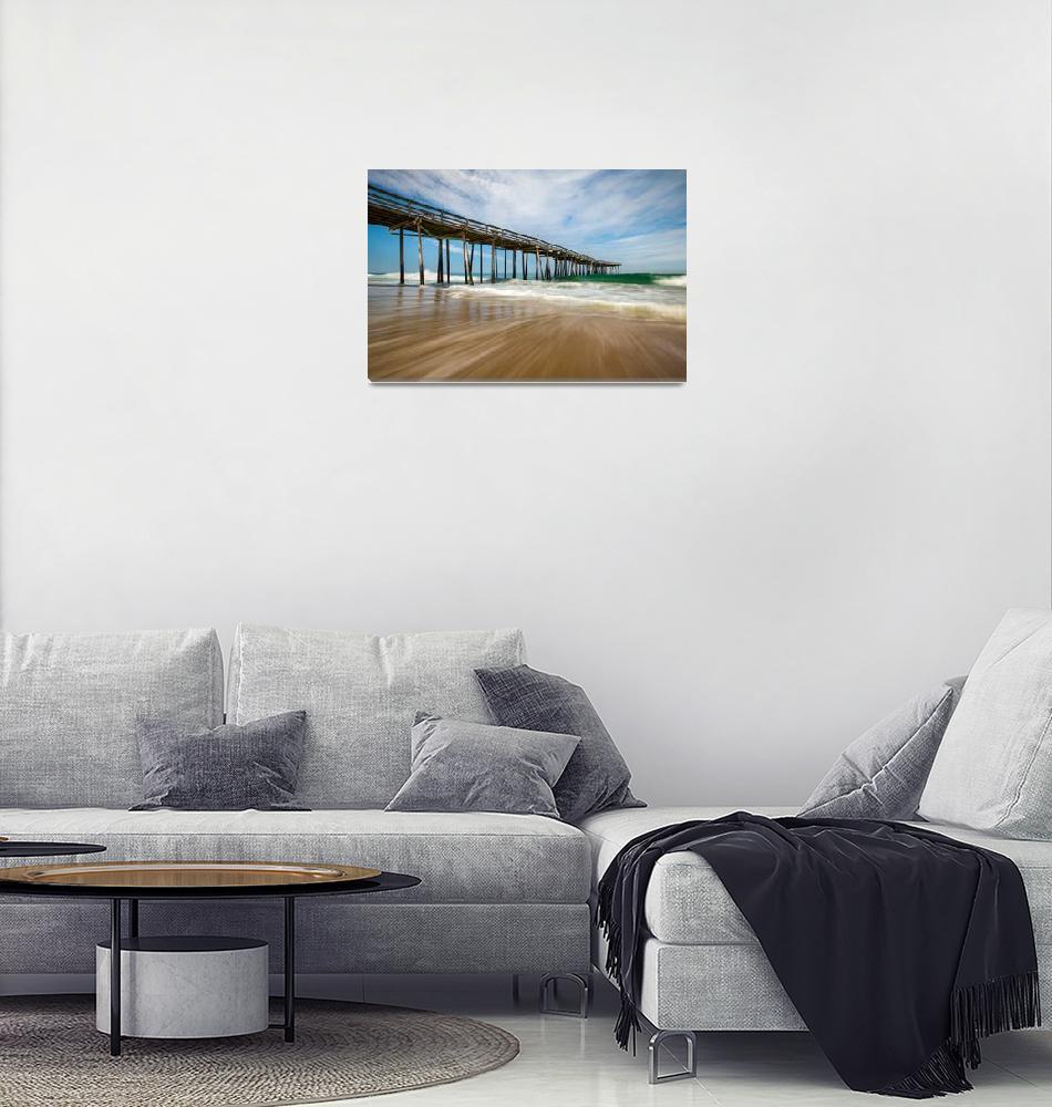 """Outer Banks Nc Beach Seascape Obx North Carolina""  (2016) by DAPhoto"