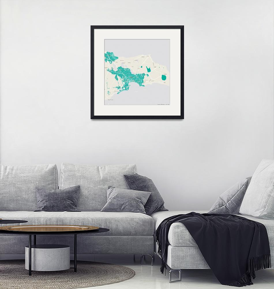 """Minimalist Modern Map of Baku, Azerbaijan 1""  by motionage"