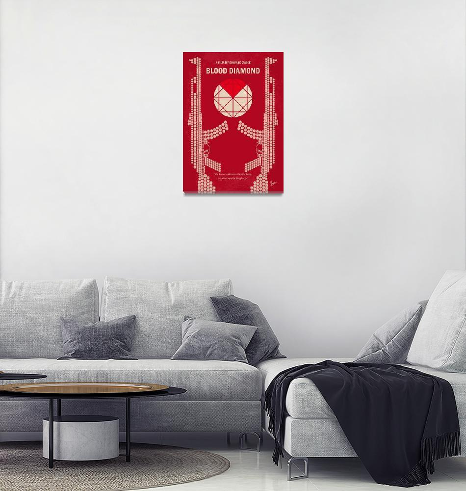 """No833 My Blood Diamond minimal movie poster""  by Chungkong"