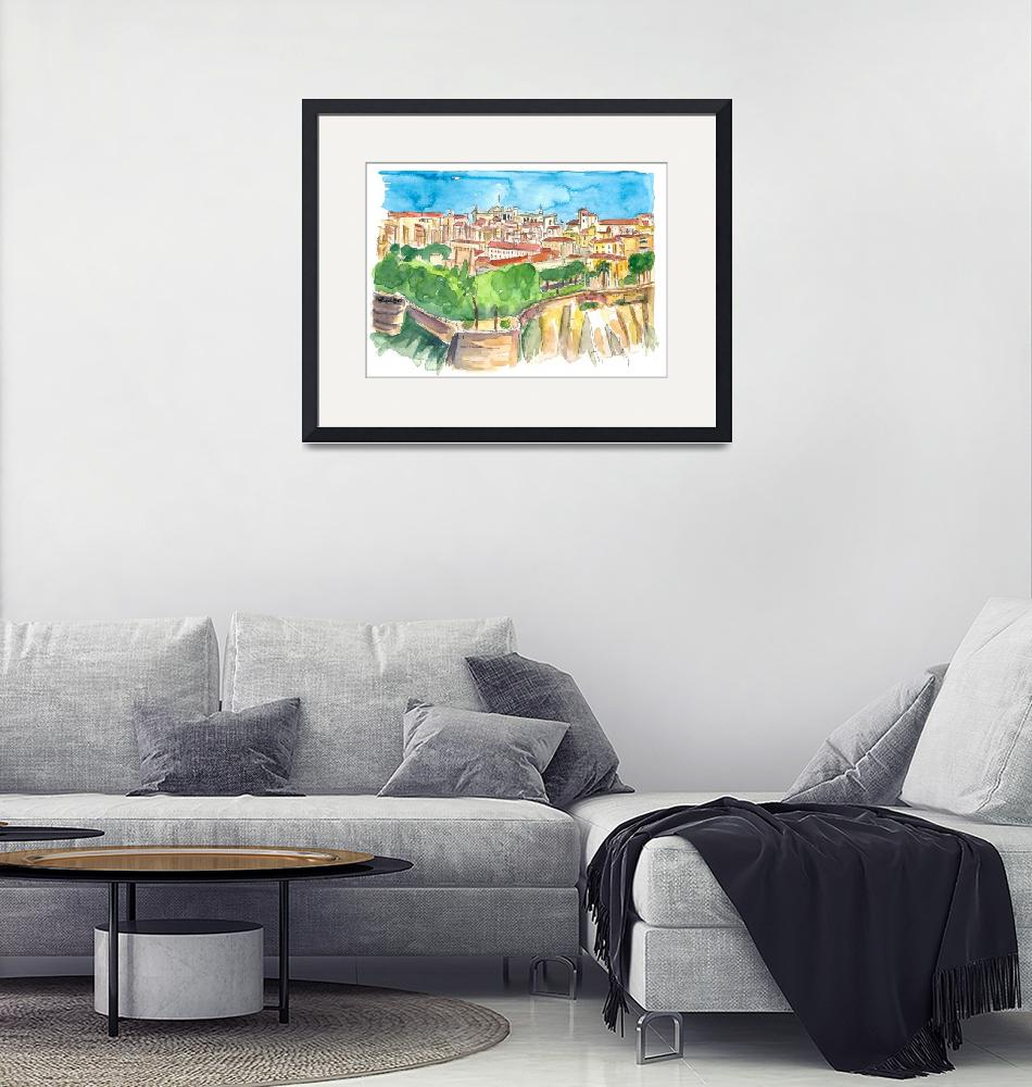 """""""Monaco Astonishing View With Rock And Fortress""""  (2020) by arthop77"""
