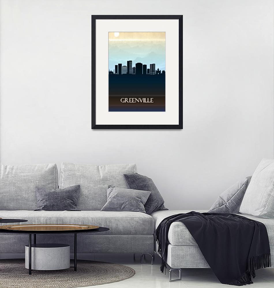 """Greenville City Skyline""  by Towseef"