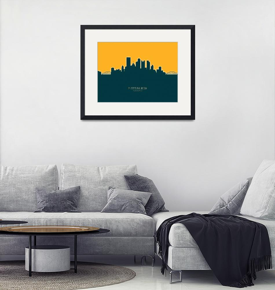 """Pittsburgh Pennsylvania Skyline"" (2020) by ModernArtPrints"