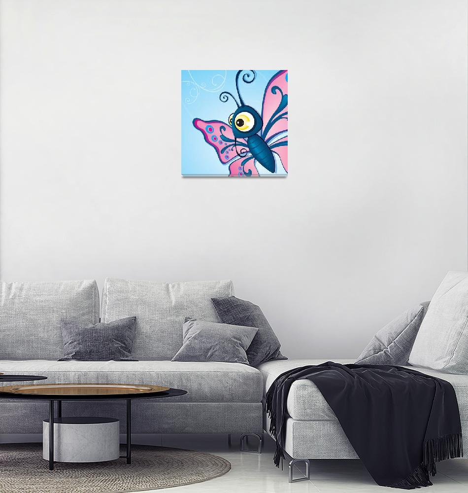 """critterz-butterfly-pinkblue"" (2008) by edgeplus"