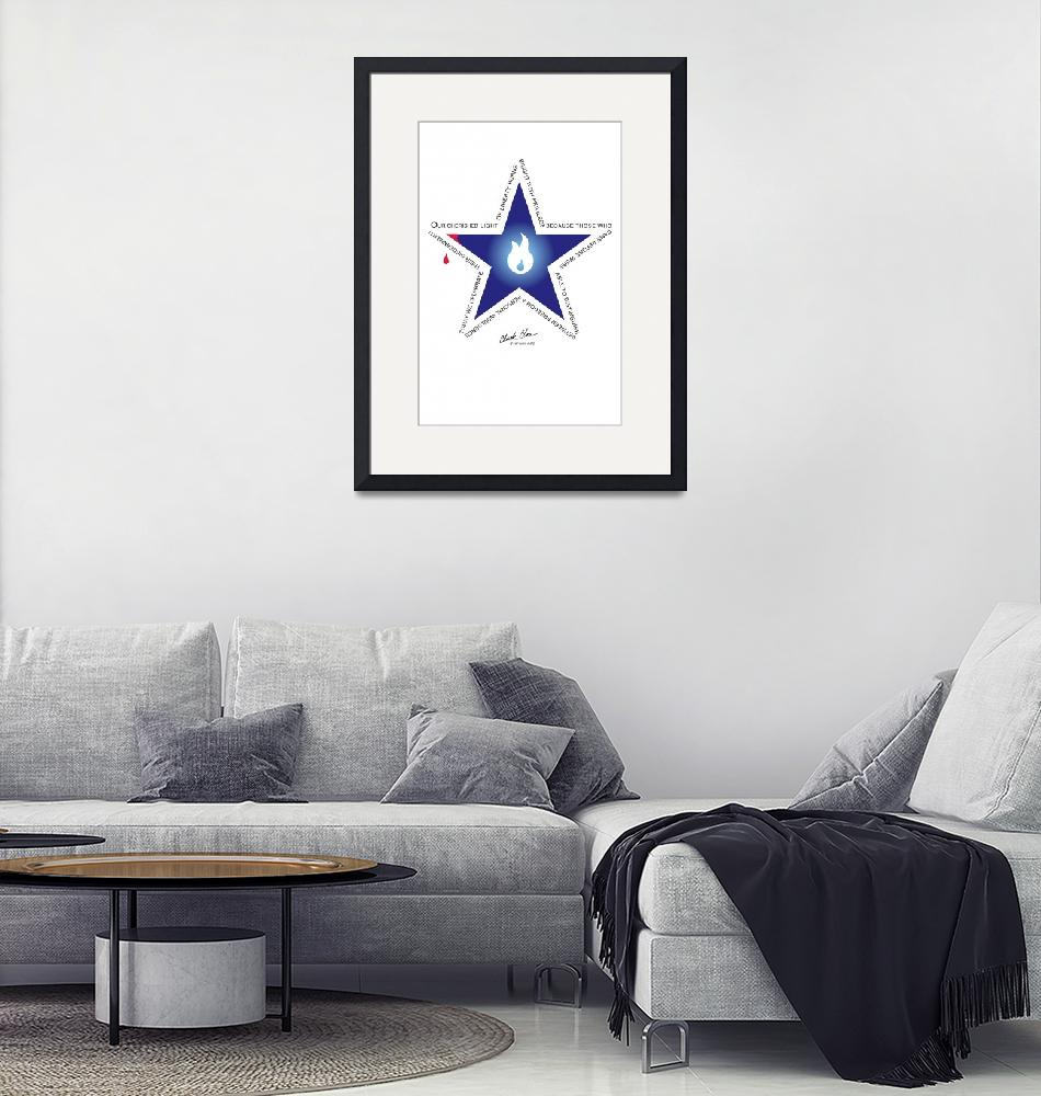 """""""Freedom Star""""  (2007) by ChuckClore"""