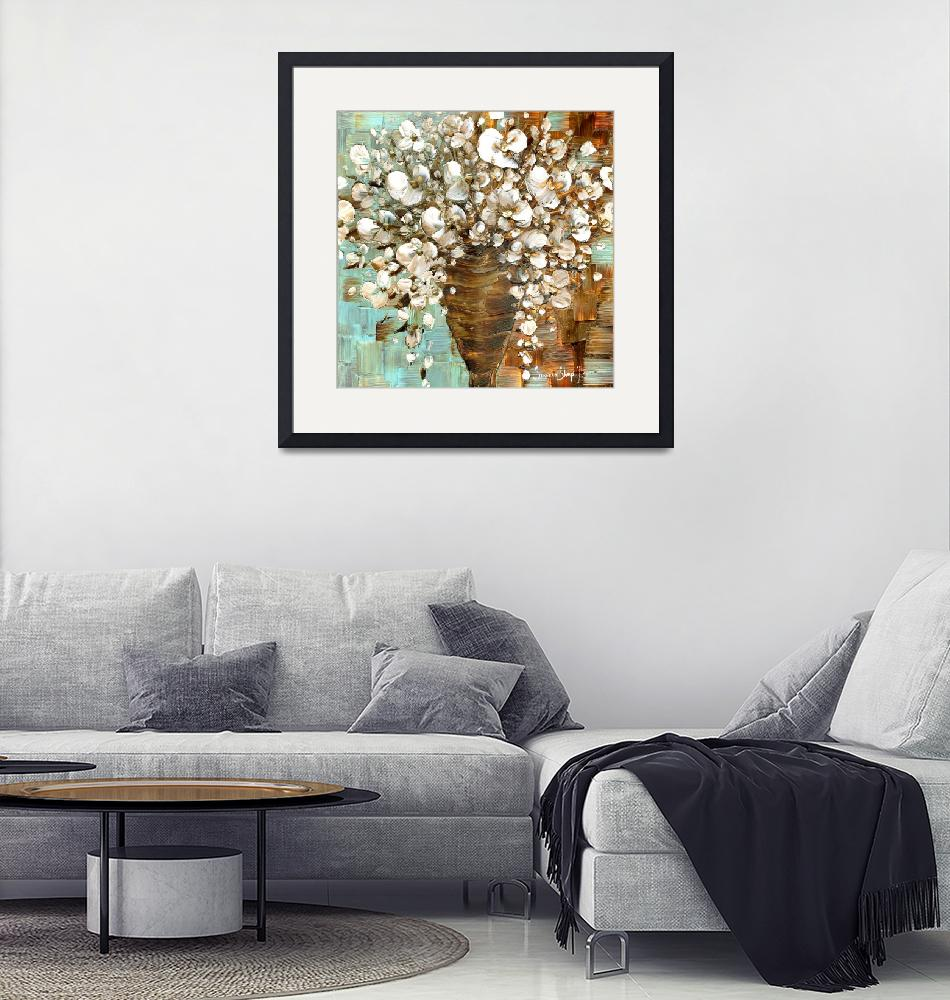 """""""white floral bouquet""""  (2012) by modernhouseart"""