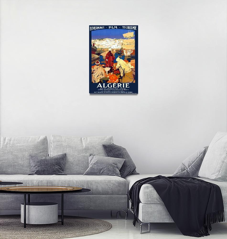 """Vintage Algeria Travel""  by PDGraphics"