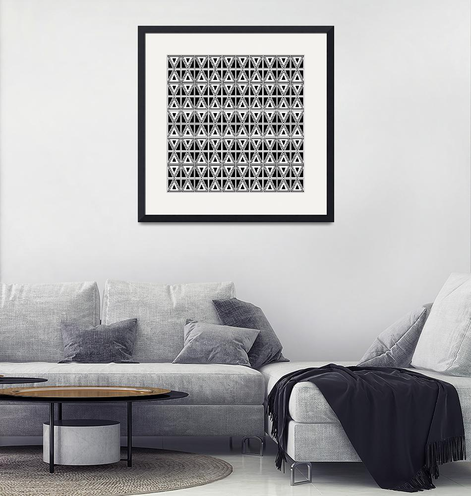 """""""Black and White Pattern #2""""  (2020) by wcsmack"""