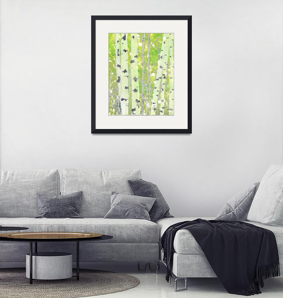 """""""Birch Forest""""  (2015) by LeCocqDesign"""