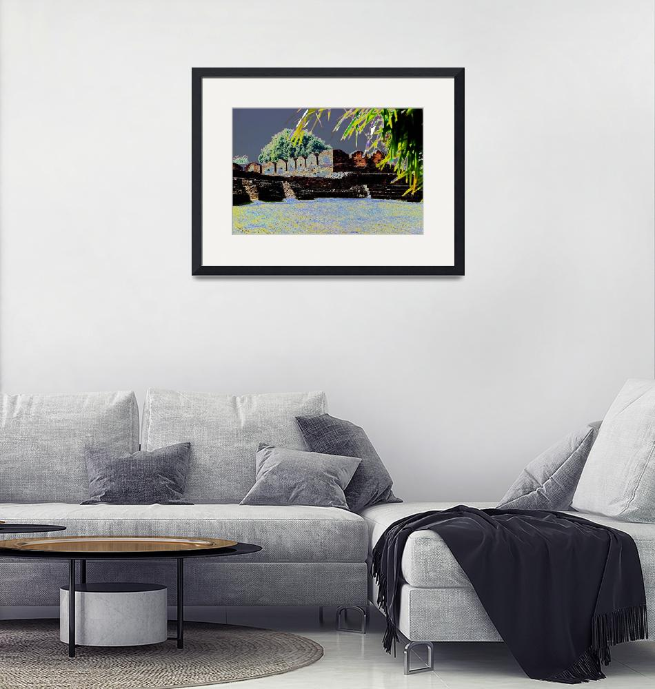 """""""Old City Wall.""""  (2015) by easel"""