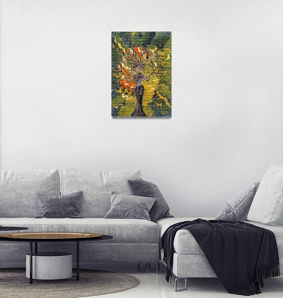 """Tree 61""  (2010) by ArtistaDonna"