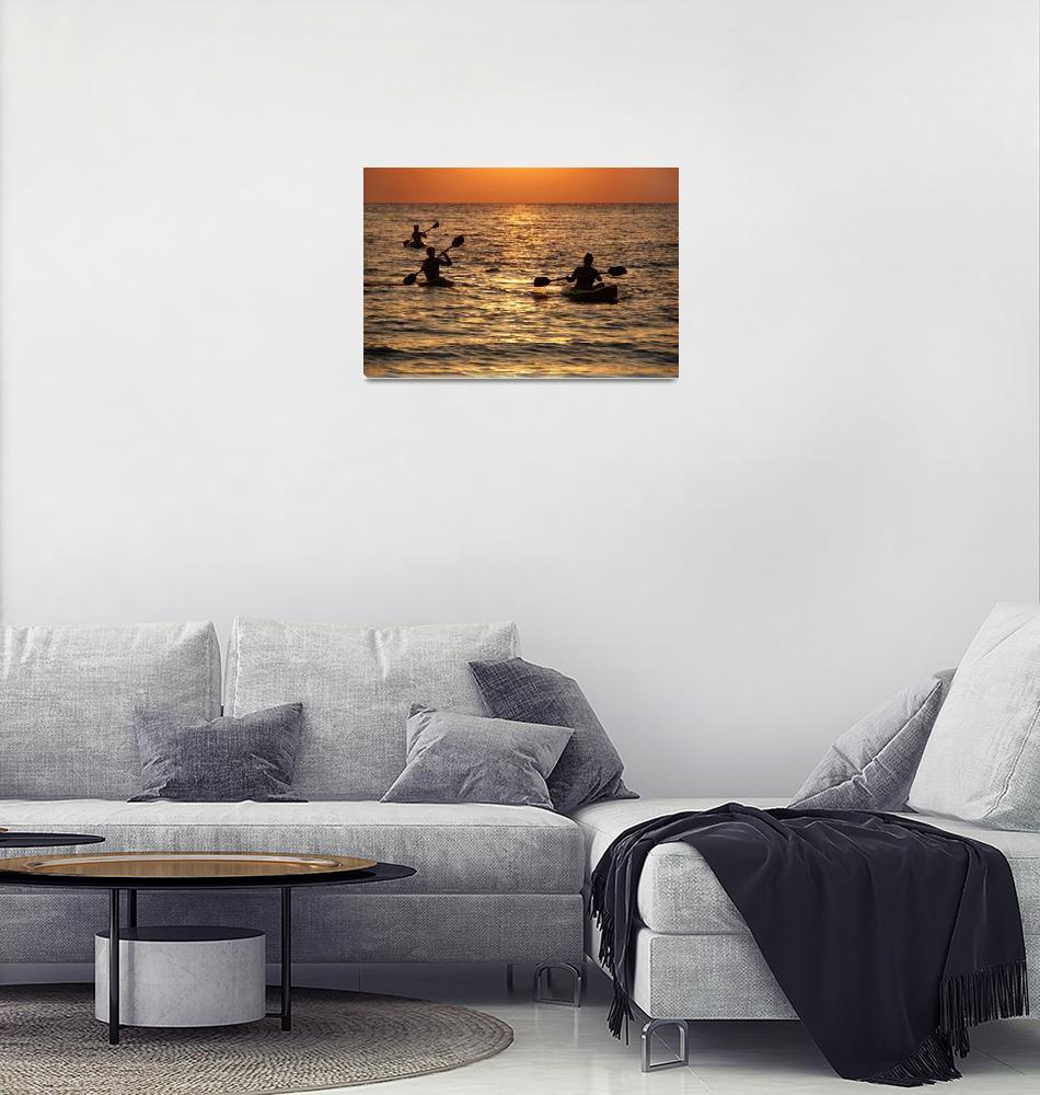 """Kayaking at Sunset Palolem""  by Serena"