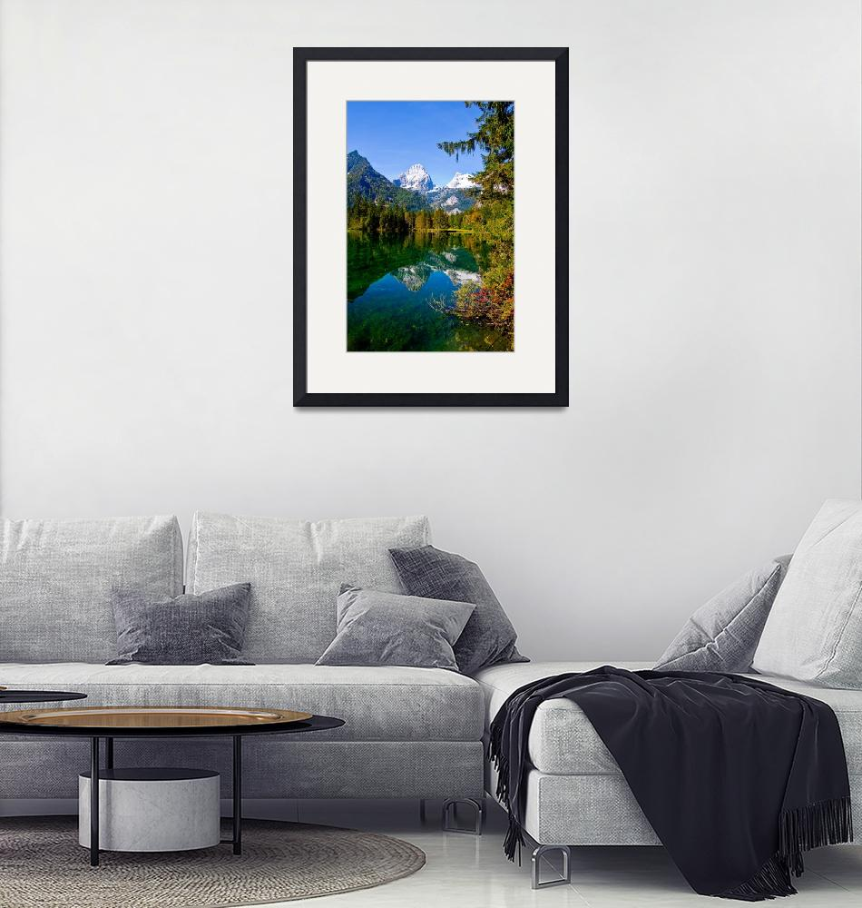 """""""Mountain reflections I""""  (2008) by wolf_m"""