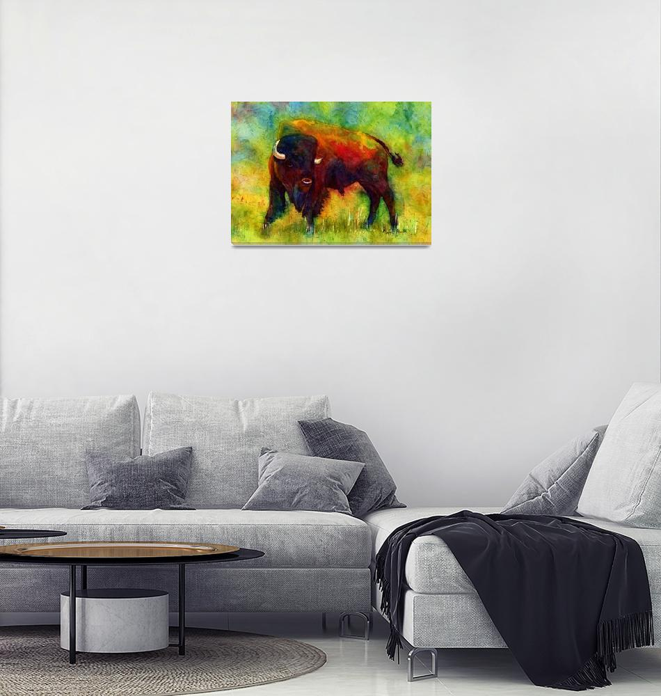 """American Buffalo""  (2013) by HaileyWatermedia"