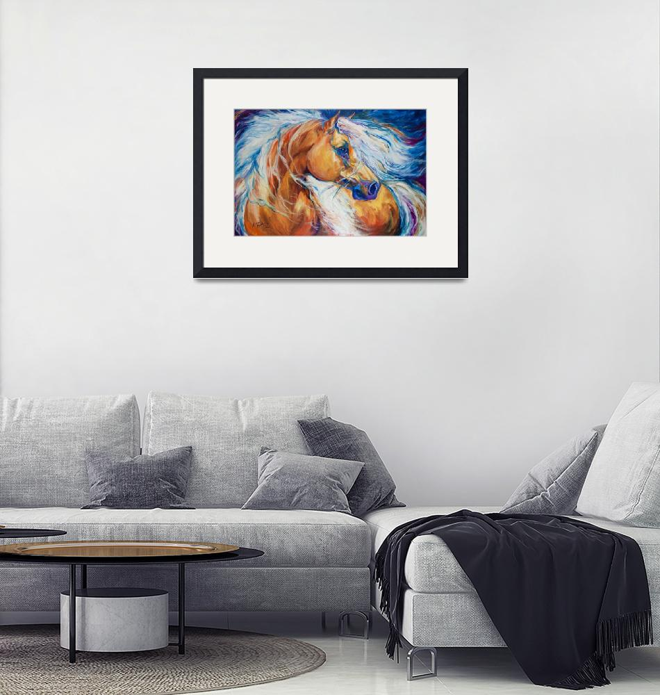 """FREE BREEZE PALOMINO"" (2013) by MBaldwinFineArt2006"